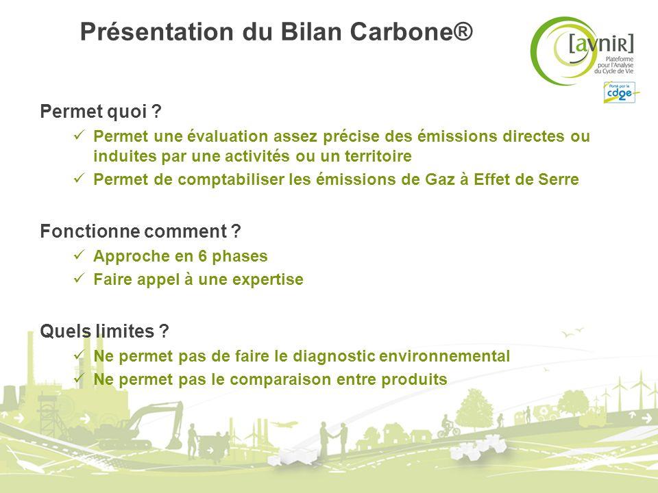 Présentation du Bilan Carbone®