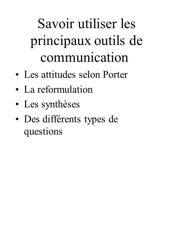 Savoir utiliser les principaux outils de communication