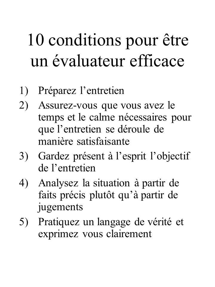 10 conditions pour être un évaluateur efficace