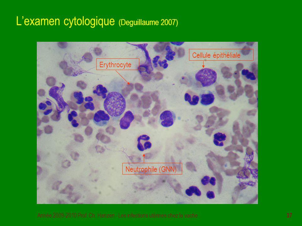 L'examen cytologique (Deguillaume 2007)