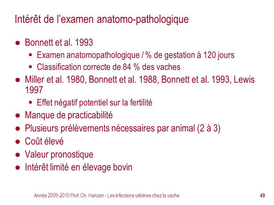 Intérêt de l'examen anatomo-pathologique