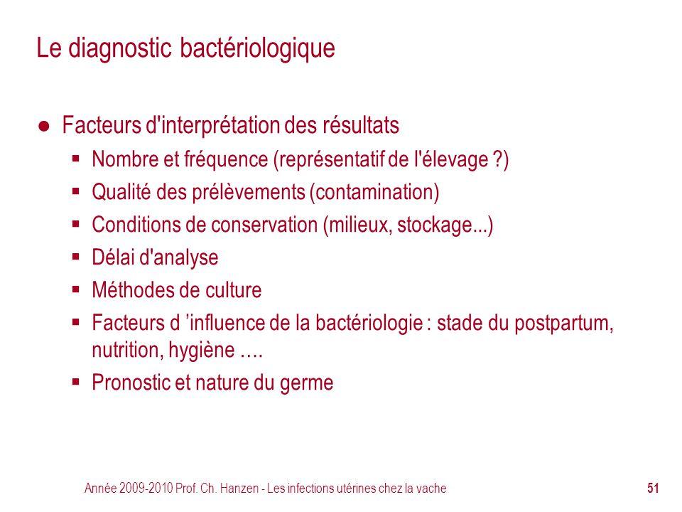 Le diagnostic bactériologique