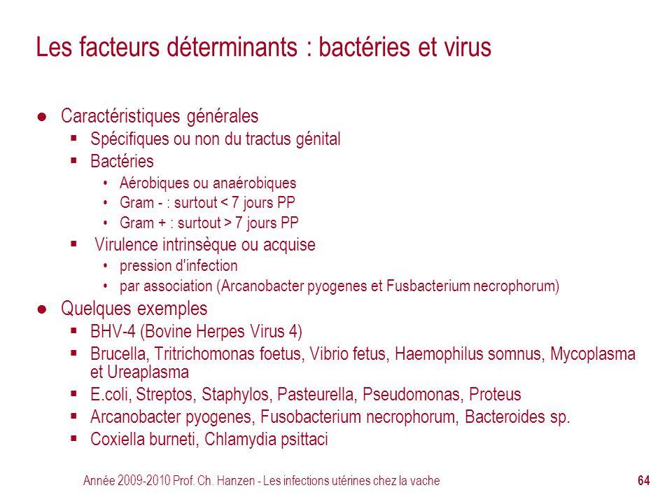 Les facteurs déterminants : bactéries et virus