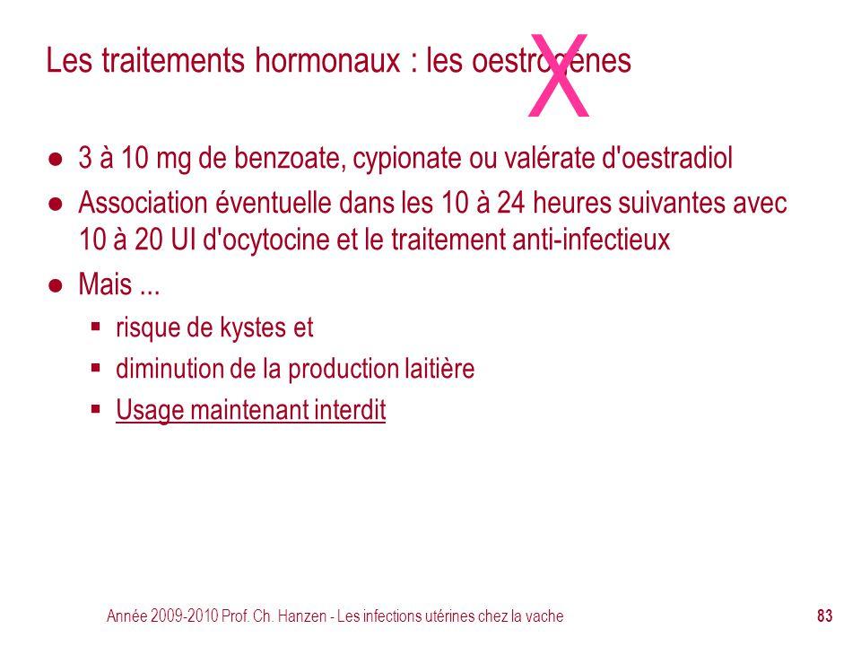 Les traitements hormonaux : les oestrogènes