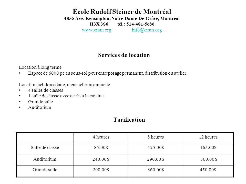 École Rudolf Steiner de Montréal 4855 Ave