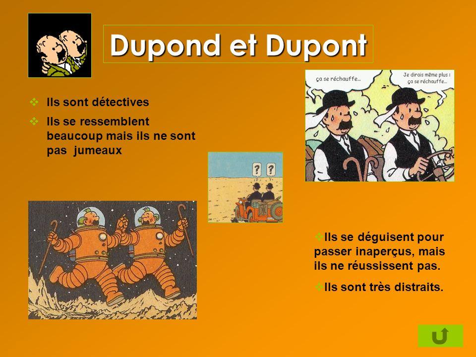 Dupond et Dupont Ils sont détectives