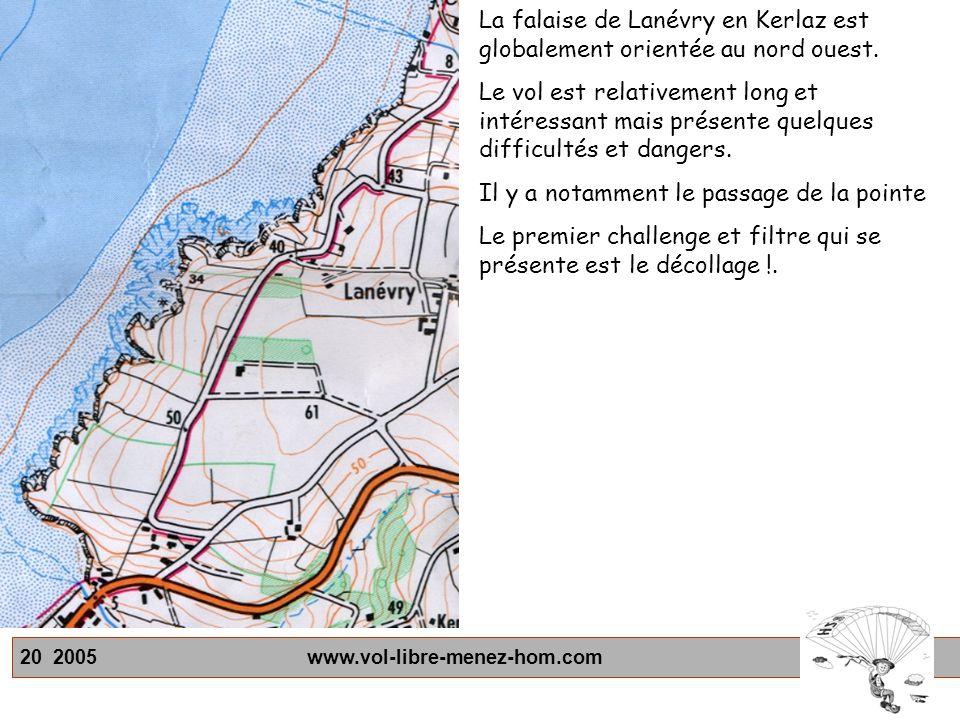 La falaise de Lanévry en Kerlaz est globalement orientée au nord ouest.