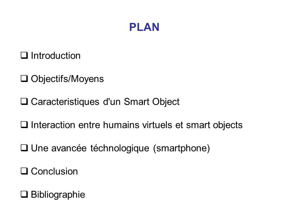 PLAN Introduction Objectifs/Moyens Caracteristiques d un Smart Object