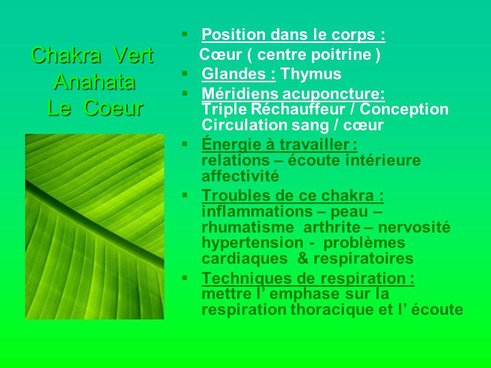 Chakra Vert Anahata Le Coeur