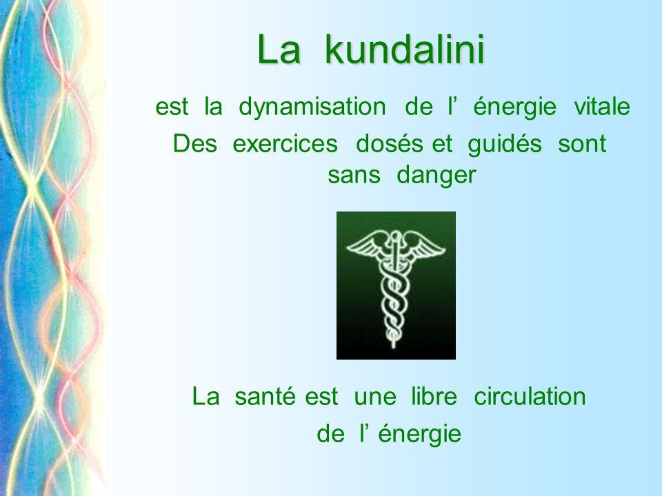 La kundalini est la dynamisation de l' énergie vitale