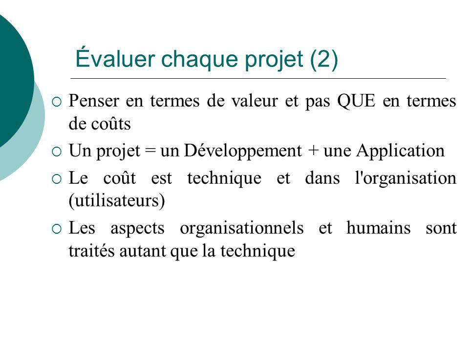 Évaluer chaque projet (2)