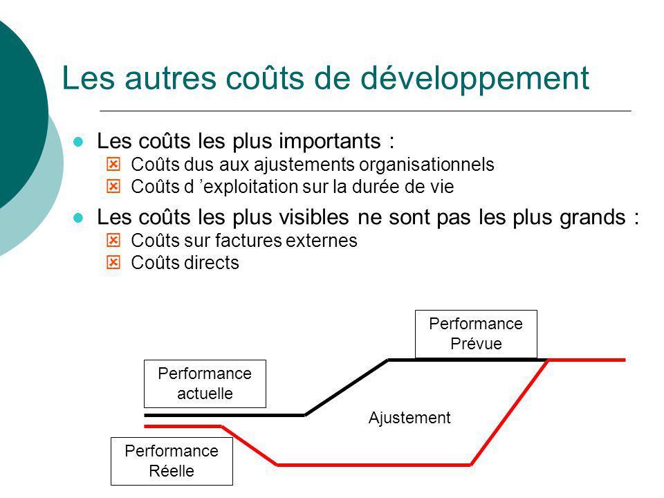 Les autres coûts de développement