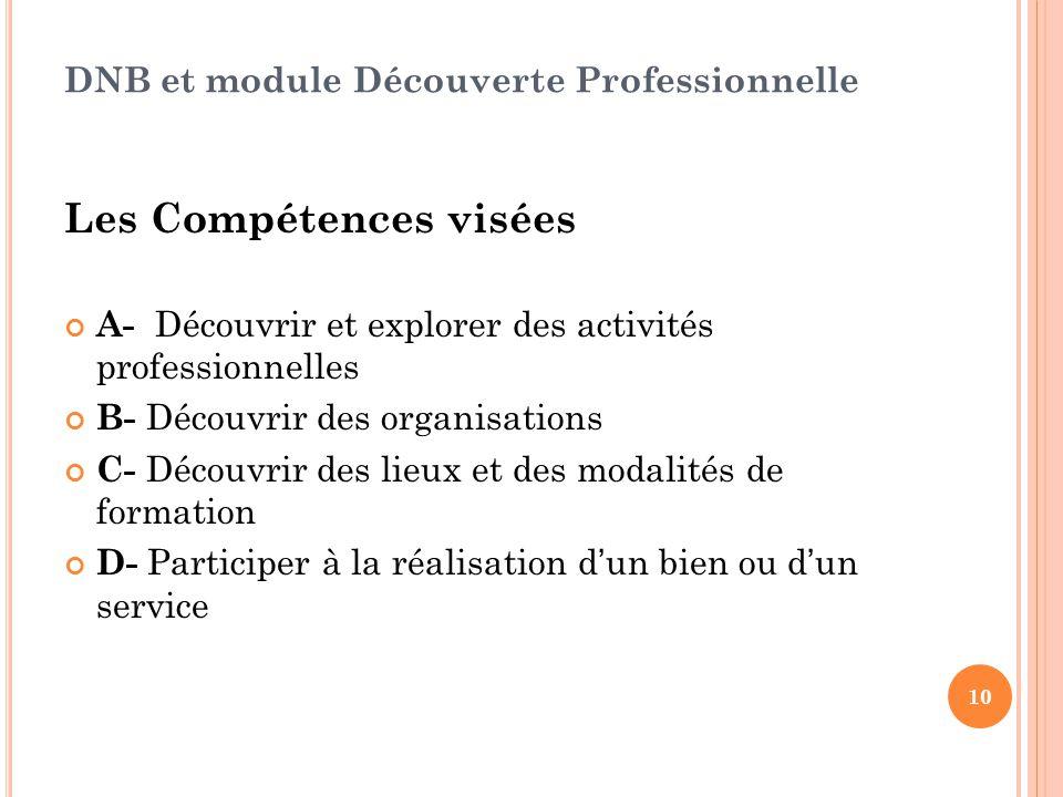DNB et module Découverte Professionnelle