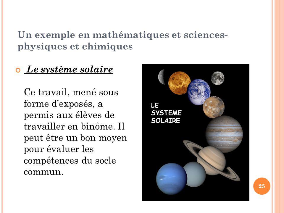 Un exemple en mathématiques et sciences-physiques et chimiques