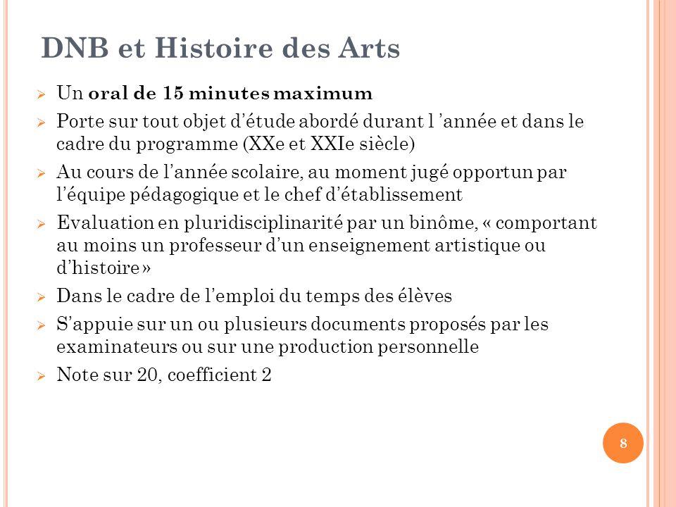 DNB et Histoire des Arts