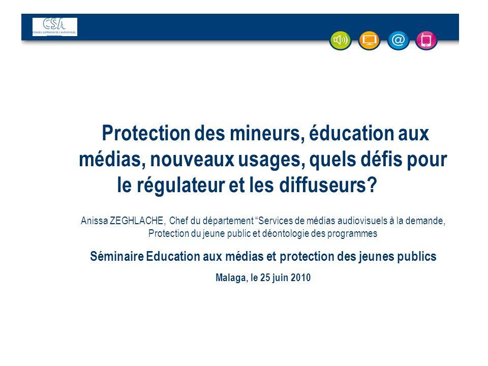 Séminaire Education aux médias et protection des jeunes publics