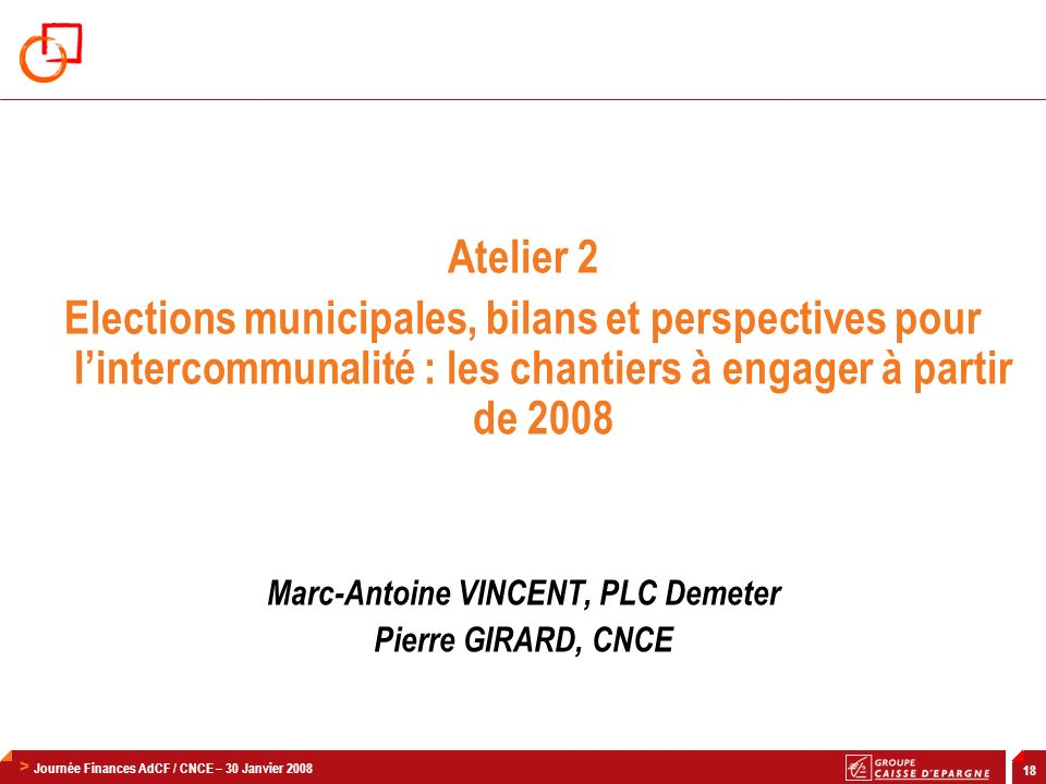 Marc-Antoine VINCENT, PLC Demeter