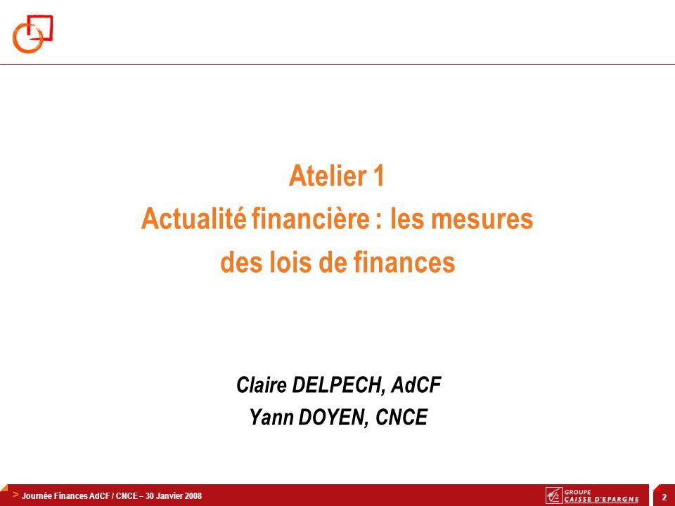 Actualité financière : les mesures