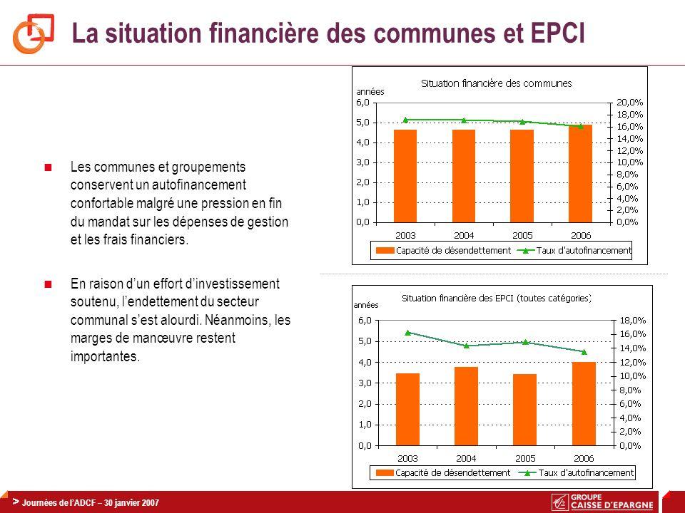 La situation financière des communes et EPCI
