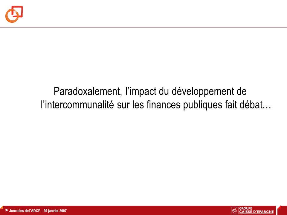 Paradoxalement, l'impact du développement de l'intercommunalité sur les finances publiques fait débat…