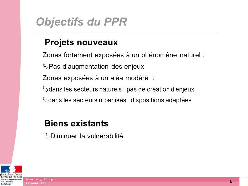 Objectifs du PPR Projets nouveaux