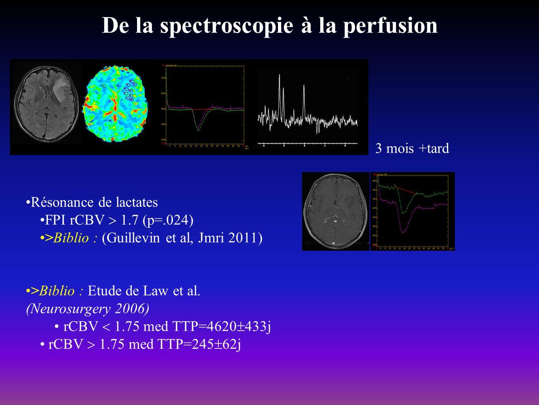 De la spectroscopie à la perfusion