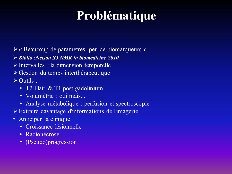 Problématique « Beaucoup de paramètres, peu de biomarqueurs »