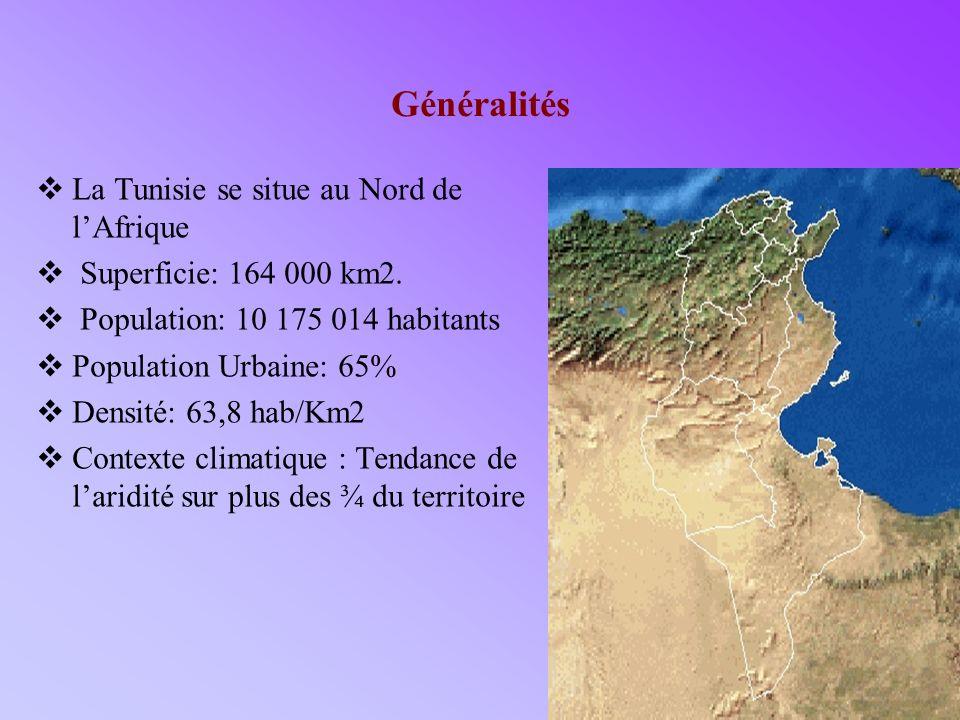 Généralités La Tunisie se situe au Nord de l'Afrique