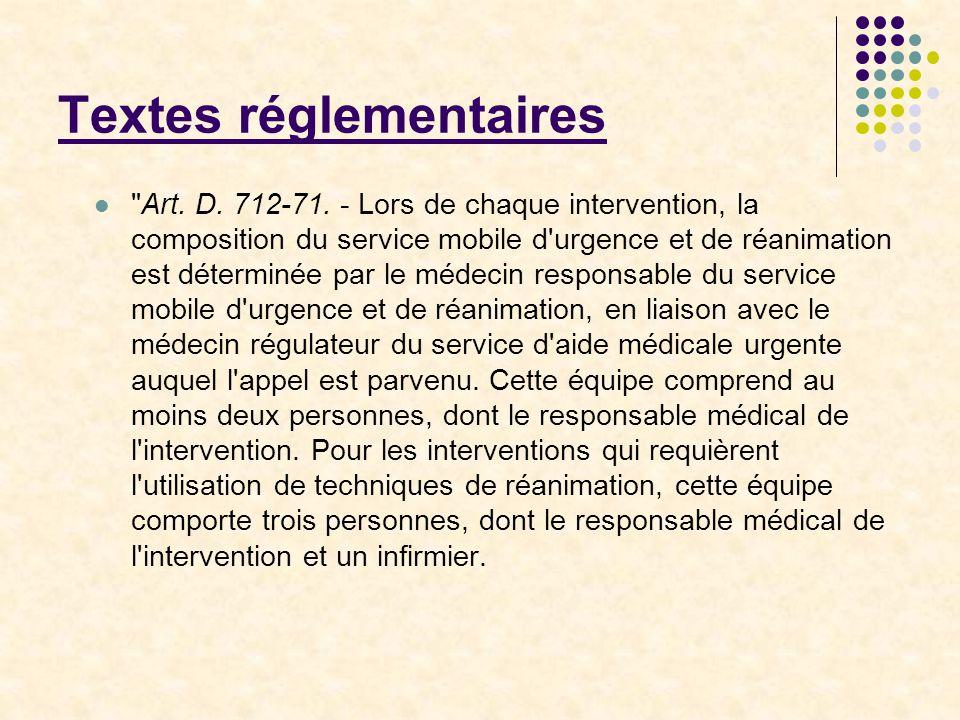 Textes réglementaires