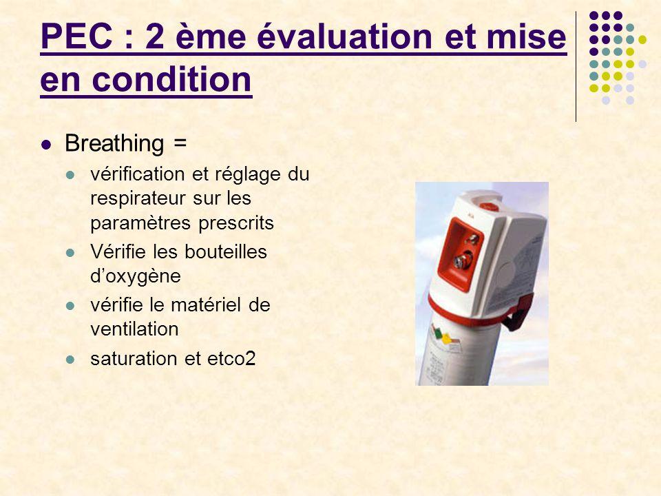 PEC : 2 ème évaluation et mise en condition