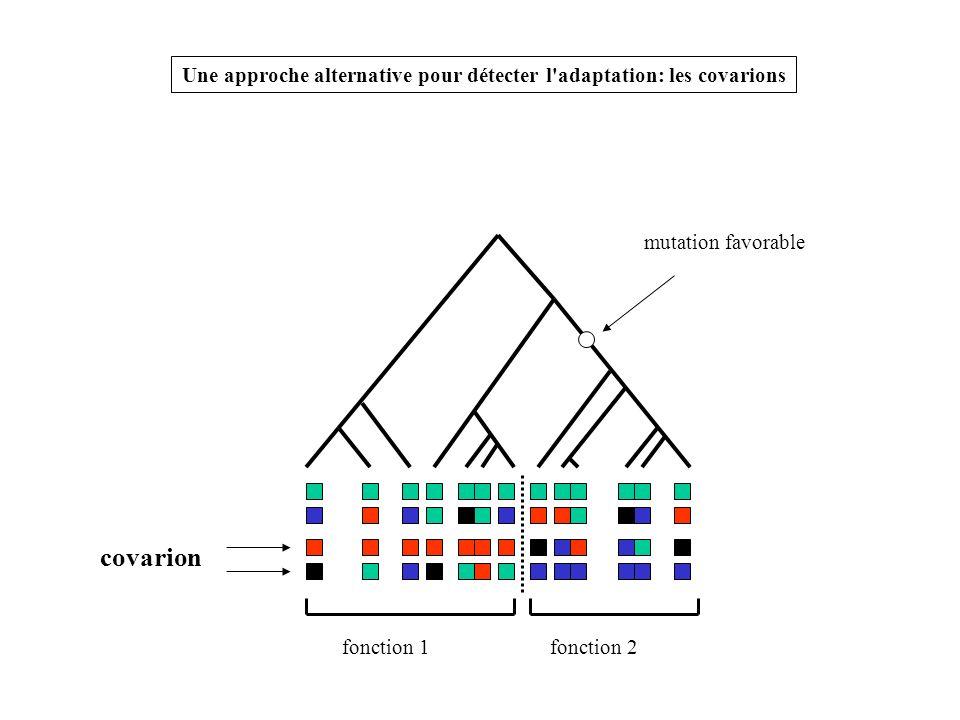 Une approche alternative pour détecter l adaptation: les covarions