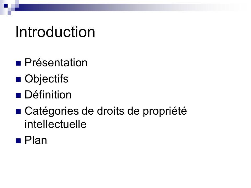 Introduction Présentation Objectifs Définition