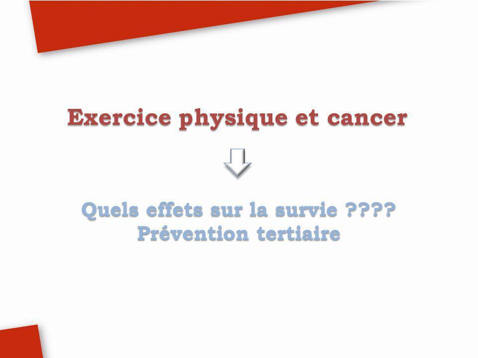 Exercice physique et cancer