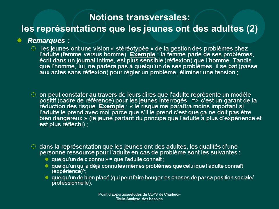 Notions transversales: les représentations que les jeunes ont des adultes (2)