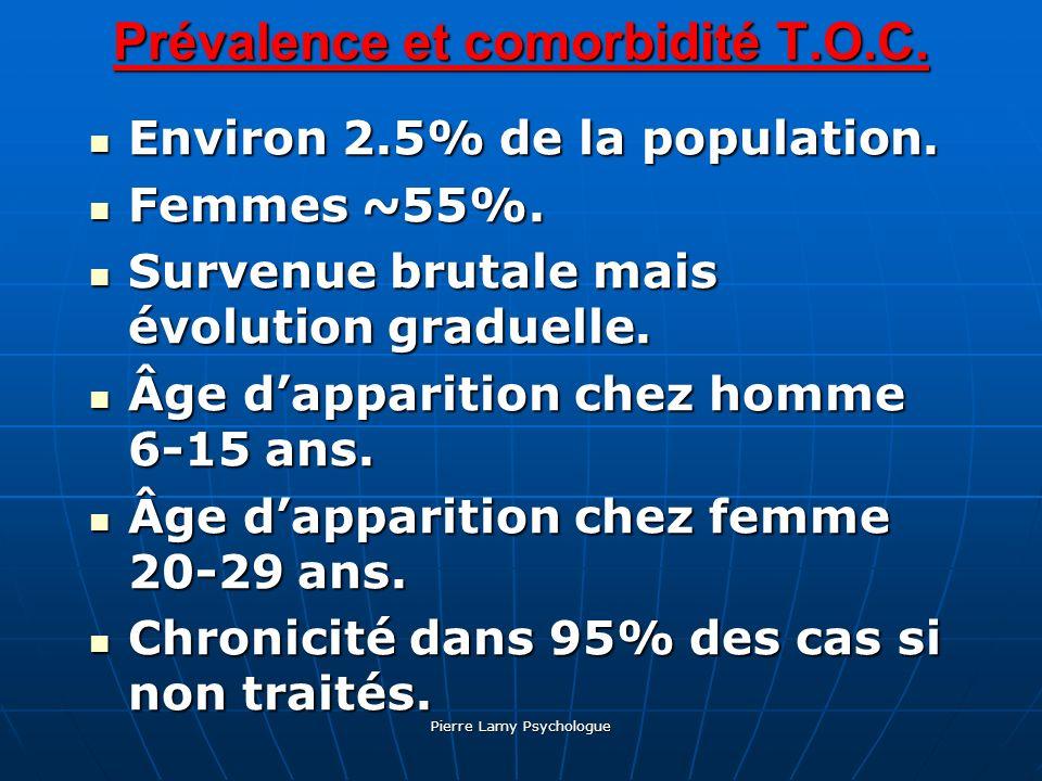 Prévalence et comorbidité T.O.C.