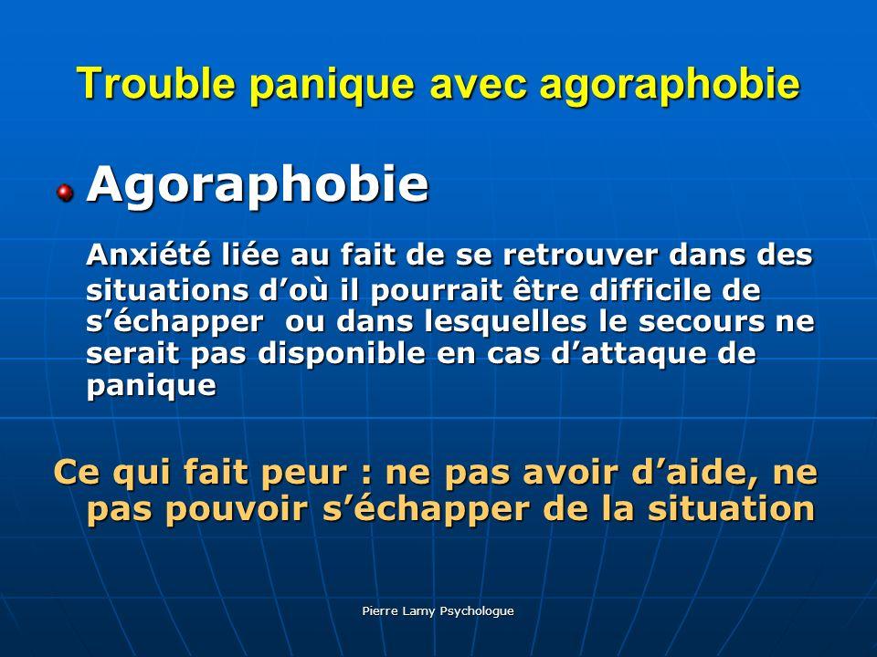 Trouble panique avec agoraphobie