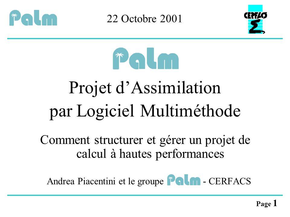 Projet d'Assimilation par Logiciel Multiméthode