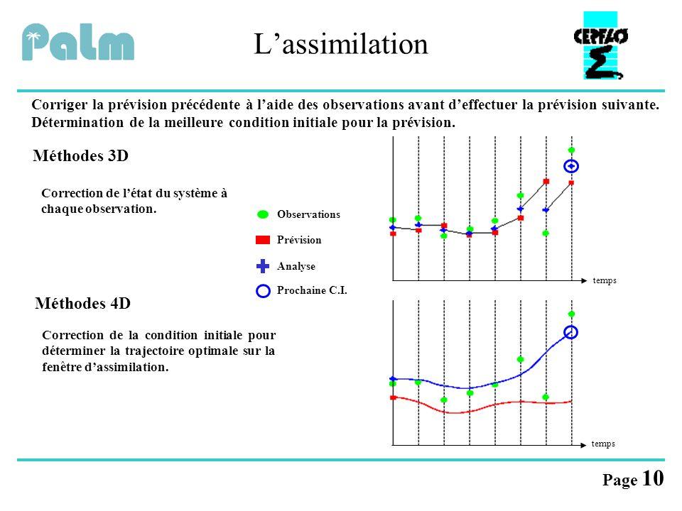 L'assimilation Méthodes 3D Méthodes 4D