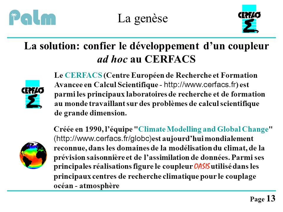 La solution: confier le développement d'un coupleur ad hoc au CERFACS