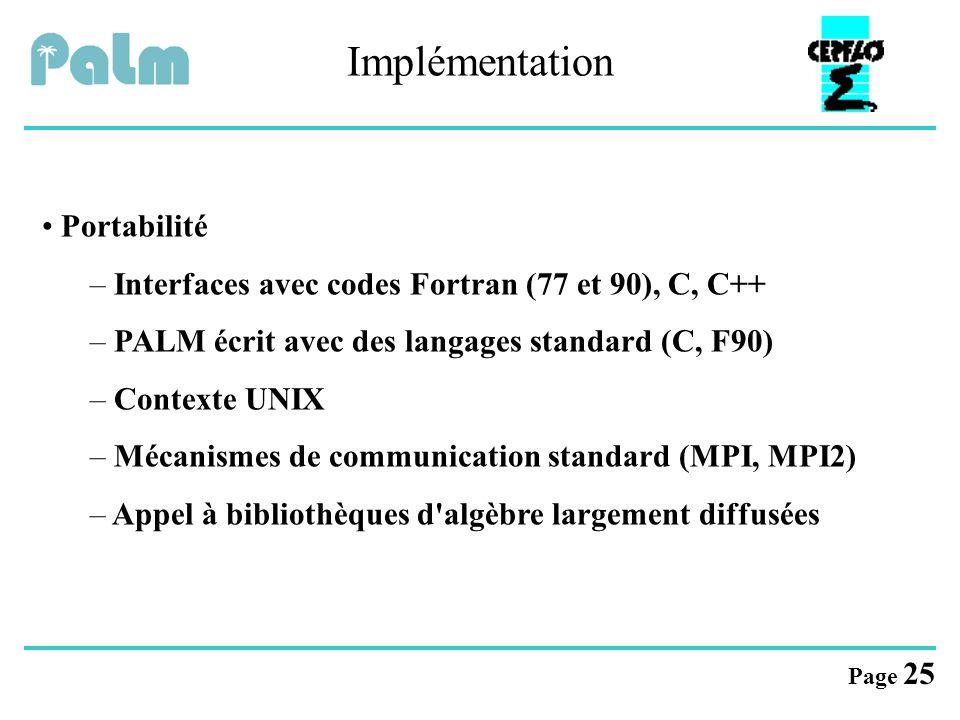 Implémentation Portabilité