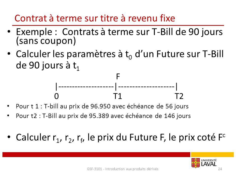Contrat à terme sur titre à revenu fixe