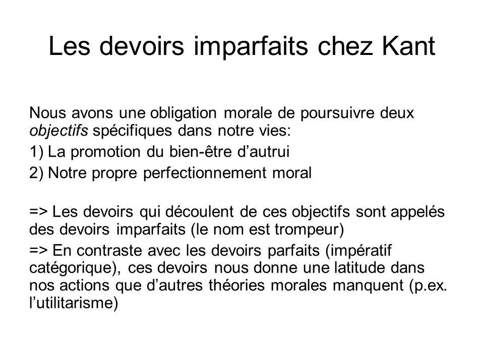 Les devoirs imparfaits chez Kant