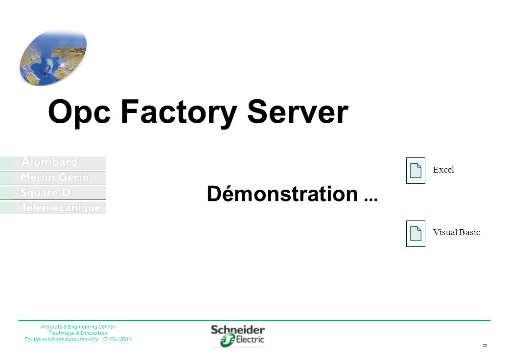 Opc Factory Server Démonstration ...