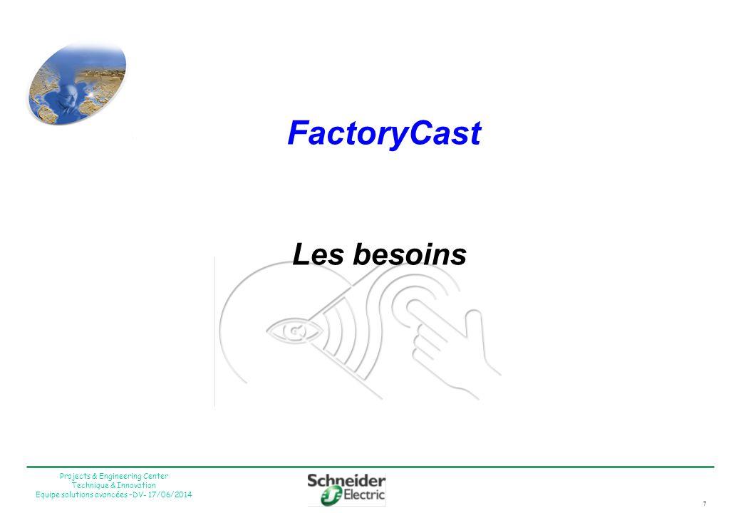 FactoryCast Les besoins