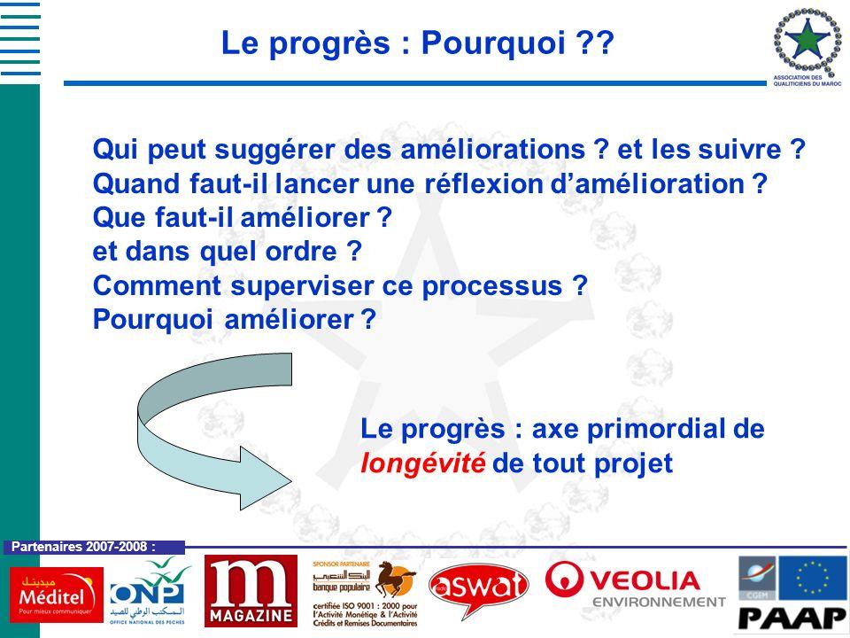 Le progrès : Pourquoi Qui peut suggérer des améliorations et les suivre Quand faut-il lancer une réflexion d'amélioration
