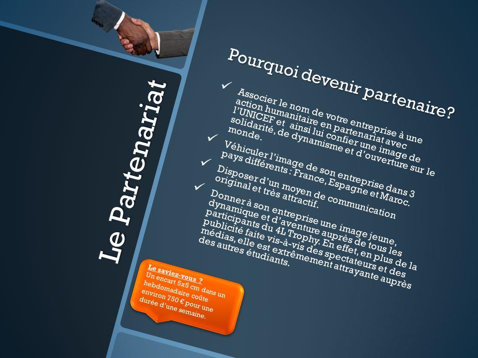 Le Partenariat Pourquoi devenir partenaire