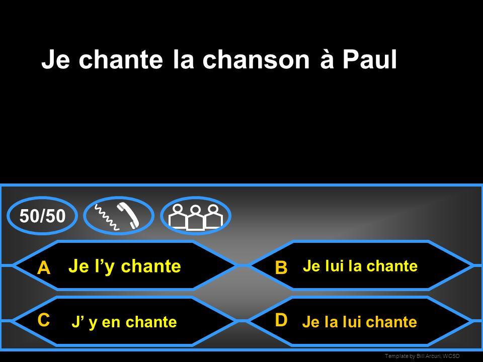 Je chante la chanson à Paul