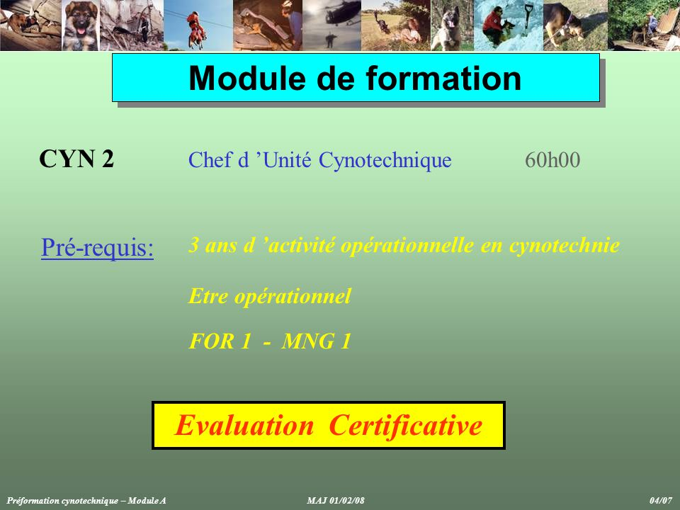 Evaluation Certificative