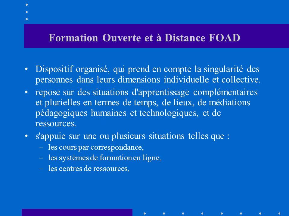 Formation Ouverte et à Distance FOAD