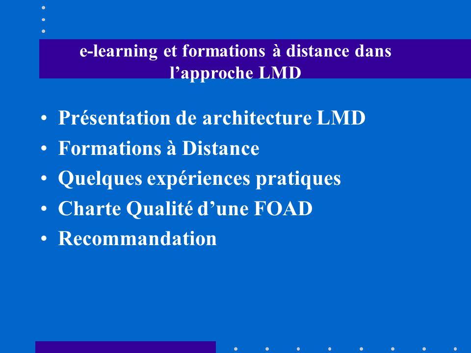 e-learning et formations à distance dans l'approche LMD